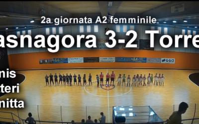 A2 femminile, gli highlights di Jasna-Torres 3-2