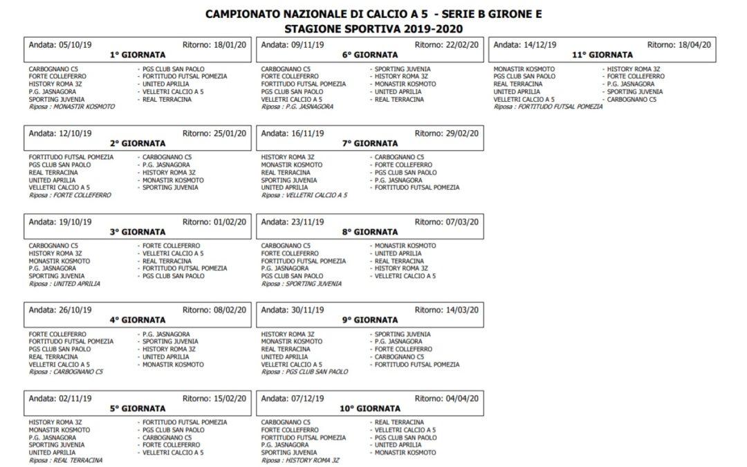 Serie B 19/20, il calendario della Jasnagora
