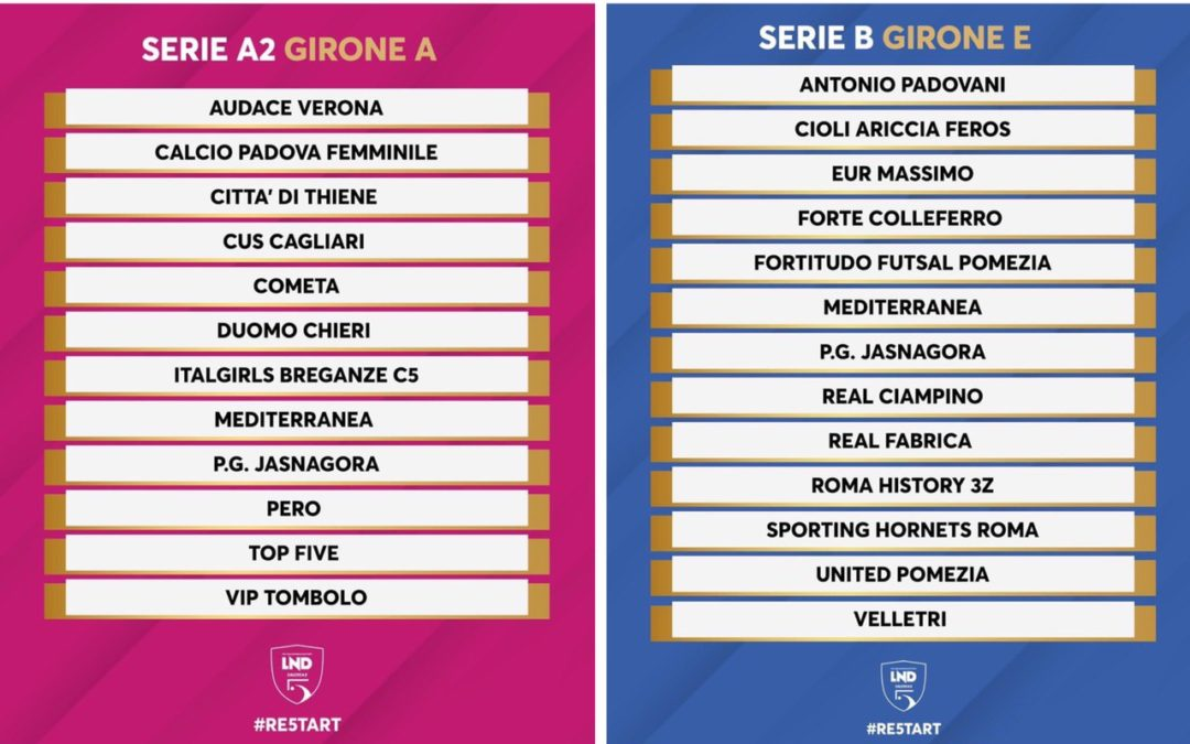 A2 femminile e Serie B, i gironi della Jasna